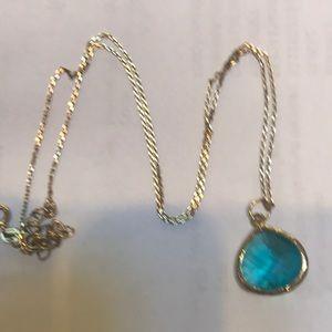 Jewelry - Blue Green Topaz Necklace!  EUC!